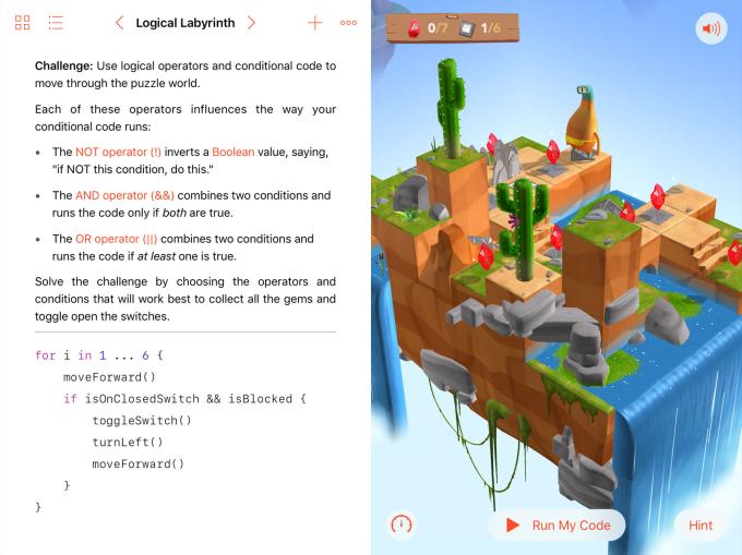 Swift Playground app para aprender a programar